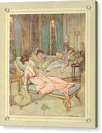 Three Women Sleeping Acrylic Print by British Library