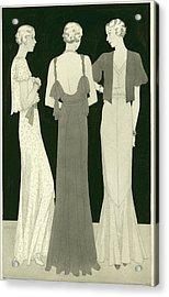 Three Women Standing In A Circle Acrylic Print