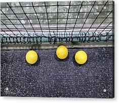 Three Yellow Balls Acrylic Print by Patricia Januszkiewicz