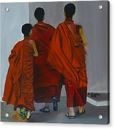 Three Young Monks Acrylic Print