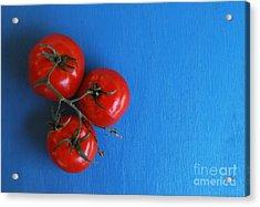 Threematoes Acrylic Print by Dan Holm