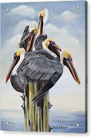 Threes A Crowd Acrylic Print