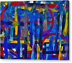 Acrylic Print featuring the painting Anchored In Art by Lisa Kaiser
