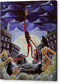 Acrylic Print featuring the painting 'thriller V3' by Tu-Kwon Thomas