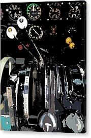 Throttles Acrylic Print by Julio Lopez