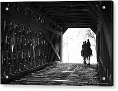 Acrylic Print featuring the photograph Through A Covered Bridge by Phil Abrams
