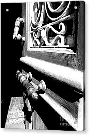 Acrylic Print featuring the photograph Through An Open Door Into Darkness by Vicki Spindler