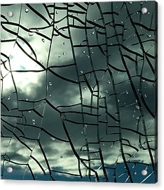 Through Broken Glass Acrylic Print