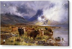 Through Glencoe By  Way To The Tay Acrylic Print by Louis Bosworth Hurt