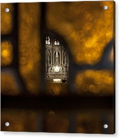 Through The Broken Window Acrylic Print by Tim Gumz