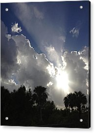 Through The Clouds Acrylic Print by K Simmons Luna