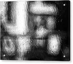Through The Curtain  Acrylic Print