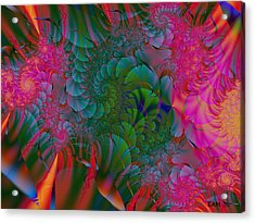 Acrylic Print featuring the digital art Through The Electric Garden by Elizabeth McTaggart