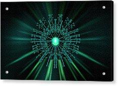Acrylic Print featuring the digital art Through The Emerald Eye by Charmaine Zoe