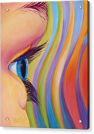 Acrylic Print featuring the painting Through The Eyes Of A Child by Sandi Whetzel