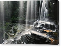 Through The Falling - Colour Acrylic Print by Michael Howard