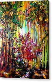 Through The Forest  Acrylic Print by Michelle Dommer