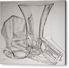 Through The Glass Acrylic Print by Jen Santa