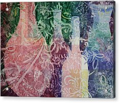 Acrylic Print featuring the painting Through The Lace by Roxanne Tobaison