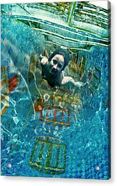 Through The Light Tunnel Acrylic Print