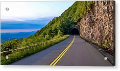 Through The Mountain Acrylic Print by Brian Young