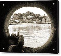 Through The Porthole Acrylic Print by Holly Blunkall