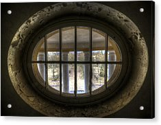 Through The Round Window Acrylic Print by Nathan Wright