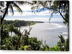 Through The Trees - A Remote Coastline On A Tropical Island Acrylic Print