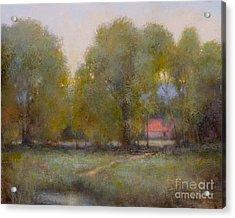 Through The Trees Acrylic Print by Lori  McNee