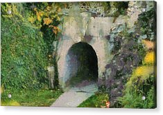 Through The Tunnel Acrylic Print by Dan Sproul