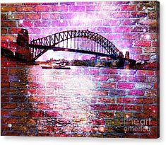 Sydney Harbour Through The Wall 1 Acrylic Print by Leanne Seymour