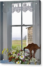 Through The Window Acrylic Print by Christopher Mace