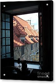 Through The Window Acrylic Print by Marilyn Zalatan