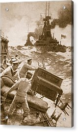 Throwing Overboard All Inflammable Luxuries When A Battleship Is Cleared For Action Acrylic Print