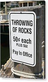 Throwing Rocks Acrylic Print by David Freuthal