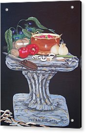 Acrylic Print featuring the painting Thrown Together by Susan Roberts