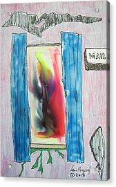Thru A Med Window Acrylic Print
