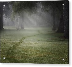 Thru The Fog Acrylic Print by Bill Wakeley