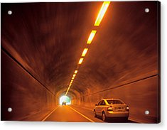 Thru The Tunnel Acrylic Print by Karol Livote