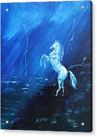 Thunder And Lightning Acrylic Print