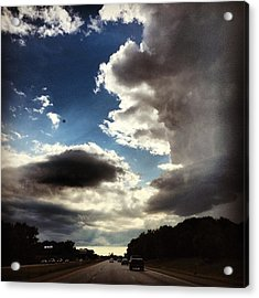 Thunder Clouds Acrylic Print by Christy Beckwith