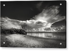 Thunder Head Comming Bw Acrylic Print by Marvin Spates