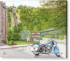 Acrylic Print featuring the painting Thunder In Johnstown by Albert Puskaric