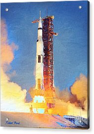 Thunder Of Apollo Saturn V Acrylic Print
