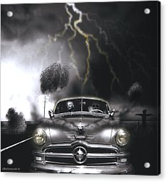 Thunder Road Acrylic Print by Larry Butterworth