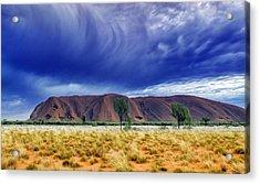 Thunder Rock Acrylic Print by Holly Kempe