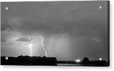 Thunder Rolls And The Lightnin Strikes Bwsc Acrylic Print by James BO  Insogna