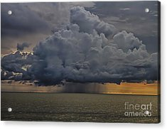 Thunder Storm Cloud Over The Gulf Of Mexico Acrylic Print by Robert Wirth