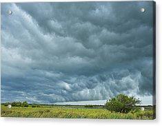 Thunder Storm Over Countryside Acrylic Print by Raimund Linke