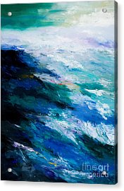 Thunder Tide Acrylic Print by Larry Martin